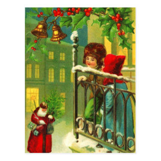 Children Waiting for Santa Postcard