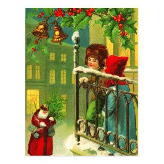 Children Waiting for Santa Postcard