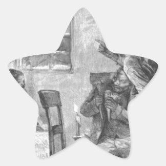 Children Wide Awake on Christmas Eve Star Sticker