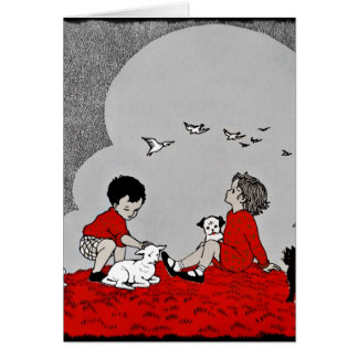 Children with a Lamb Card