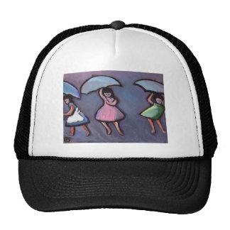 CHILDREN WITH BROLLYS TRUCKER HATS