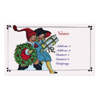 CHILDREN WITH CHRISTMAS GIFTS BUSINESS CARD TEMPLATES