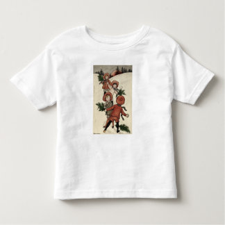 Children with Holly Throwing Snowballs Toddler T-Shirt