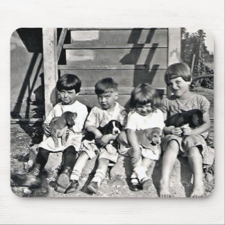 Children with Puppies Mousepad