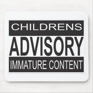 Childrens Advisory Warning Mouse Mat