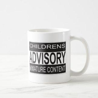 Childrens Advisory Warning Coffee Mug