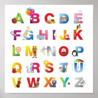 childrens alphabet canvas print