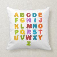 Children's Alphabet Pillow