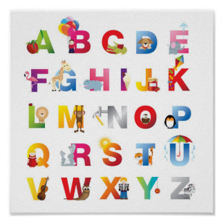 childrens alphabet poster