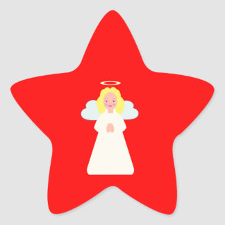Childrens Angel with Heart Wings and Halo Sticker