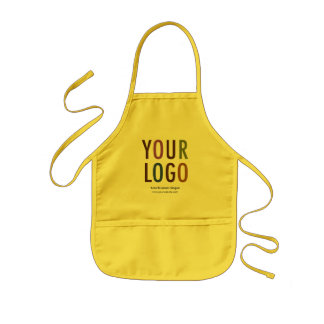 Children's Apron with Pockets Custom Logo Branded