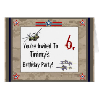 Children's Army Birthday Party Greeting Card
