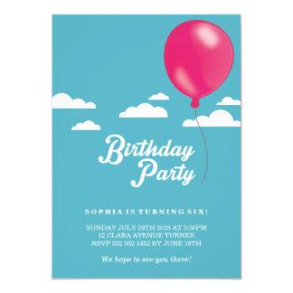 Children's Birthday Balloon Party Invitation
