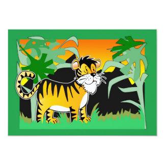 Children's Birthday Inviation With Cute Tiger 13 Cm X 18 Cm Invitation Card