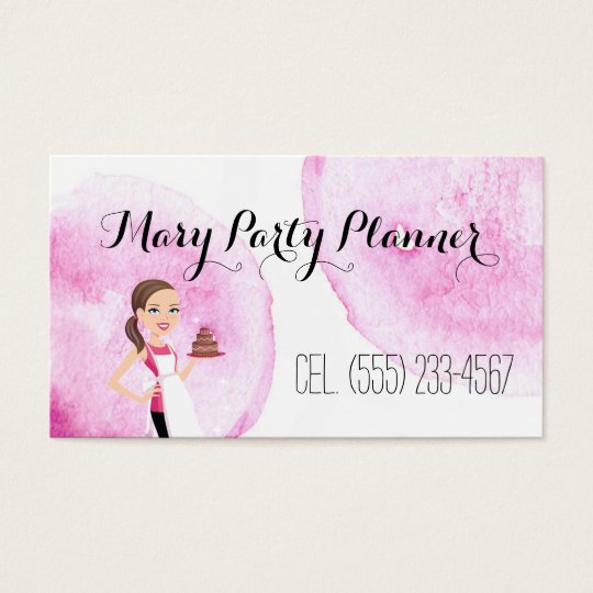 Children's Birthday Party Planner Biz Card