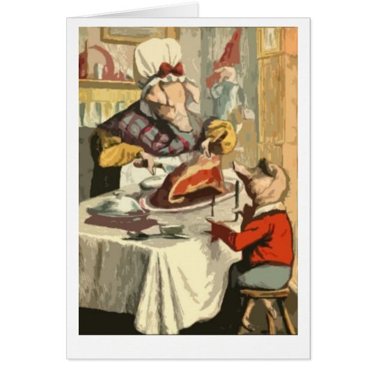 Children's book holiday feast card
