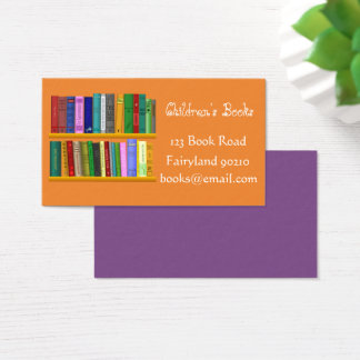 Children's books Children's bookshop Business Card