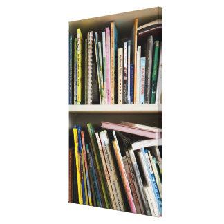 Childrens Bookshelf Canvas Print