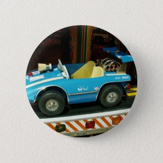Children's Carousel Car. 6 Cm Round Badge