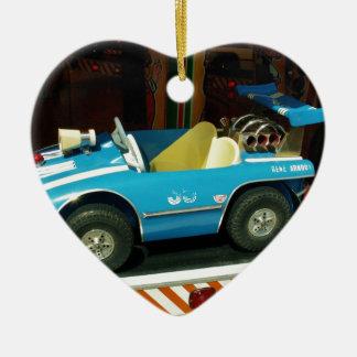 Children's Carousel Car. Ceramic Heart Decoration
