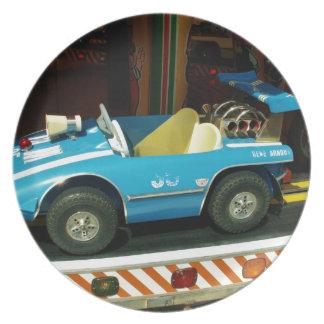 Children's Carousel Car. Dinner Plates