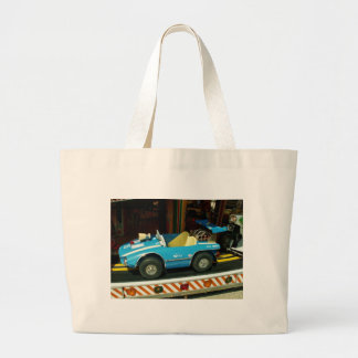 Children's Carousel Car. Large Tote Bag
