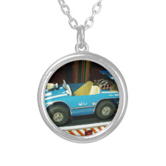 Children's Carousel Car. Silver Plated Necklace