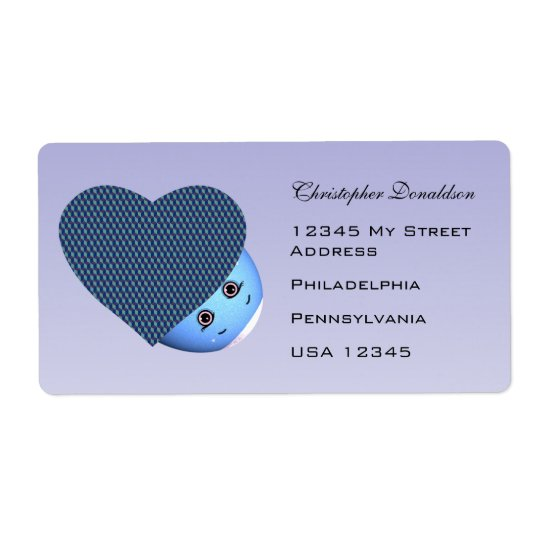 Children's Cartoon Easter Heart Shipping Label