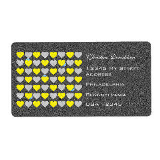 Children's Cartoon Easter Hearts Shipping Label