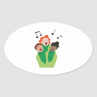Childrens Choir Oval Sticker