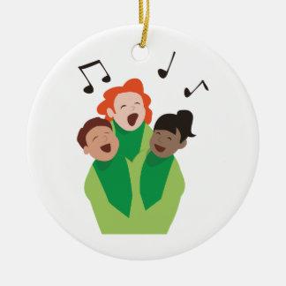 Childrens Choir Round Ceramic Decoration