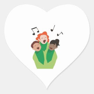 Childrens Choir Heart Sticker