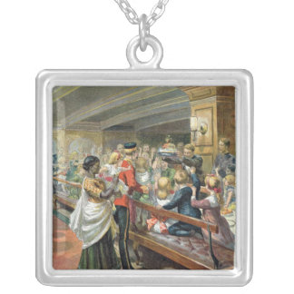 Children's Christmas Dinner at Sea Silver Plated Necklace