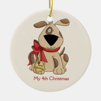 Children's Christmas Dog Ornament