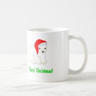 Childrens Christmas Mug with Polar Bear Santa