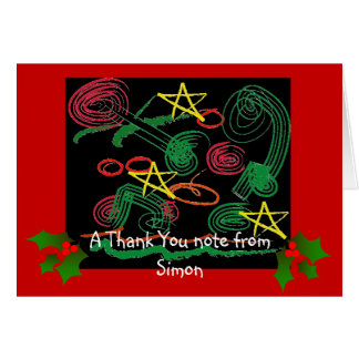 Children's Christmas Thank You note Note Card