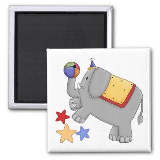 Childrens Circus Elephant Square Magnet