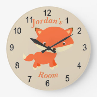 Children's Clock Cute Baby Fox