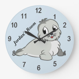 Children's Clock Cute Baby Seal