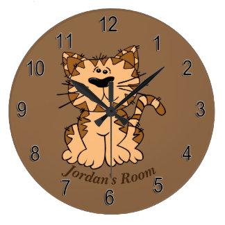 Children's Clock Cute Tabby Kitten