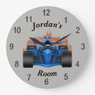 Children's Clock Race Car Flames