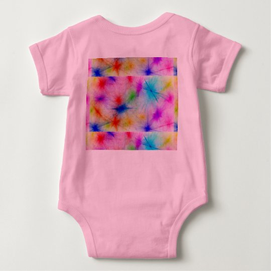 Children's coloured drawing bright baby bodysuit