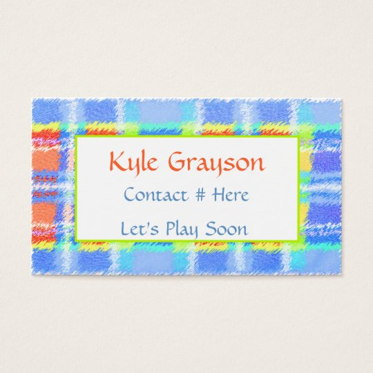 Childrens Colourful Calling Card