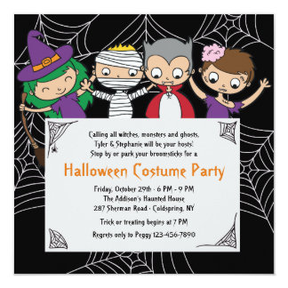 Children's Costume Halloween Party Invitation
