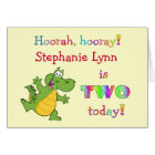 Childrens Cute 2nd Birthday Personalise It Card