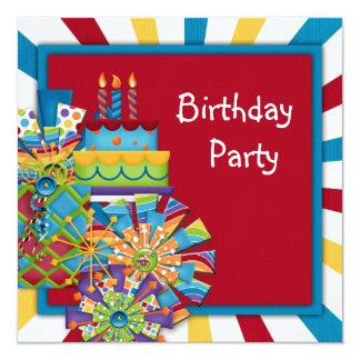 Children's Cute Circus Birthday Party Invitations