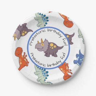Children's Dinosaur Pattern Birthday Party Paper Plate