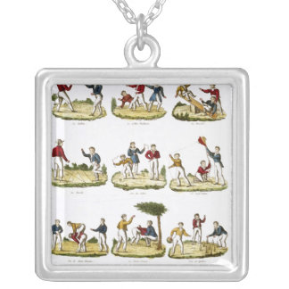 Children's Games, 1810 Silver Plated Necklace