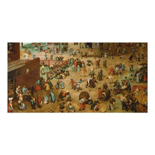 Childrens Games by Pieter Bruegel the Elder Personalized Photo Card