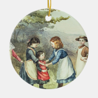 Children's Games, c.1880 (w/c on paper) Christmas Ornament